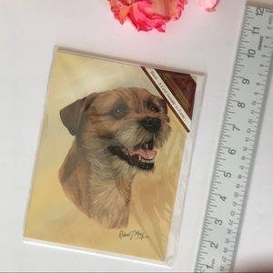 Border Terrier Framable Card from England EUC